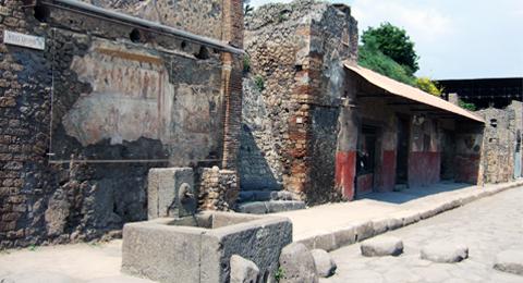 Via dell'Abbondanza in Pompeji