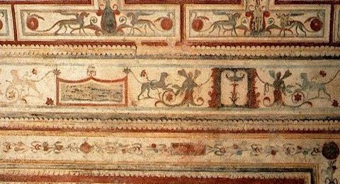 Fresco in der Domus Aurea in Rom