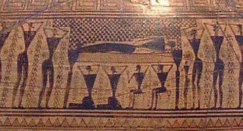 Prothesis-Darstellung auf der Dipylon-Amphora