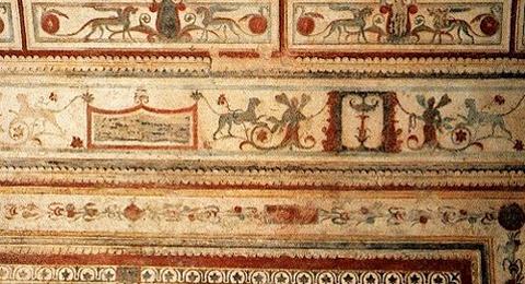 Fresko im Domus Aurea in Rom